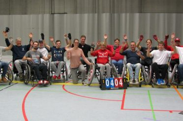Newly formed Belgian Wheelchair Softball Teams already ready to play ball.