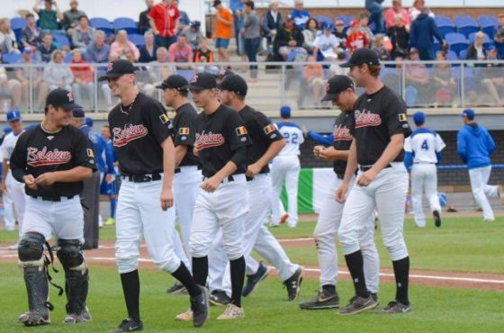 Five Junior Belgium Baseball Players in selection of Team Europe