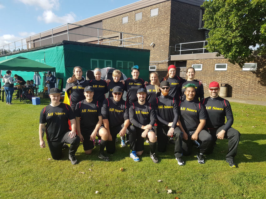 Belgium All Stars compete in the World Series Slow Pitch in London