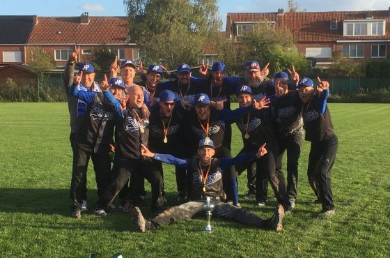Hoboken Pioneers win Belgian Series Softball Men 2017