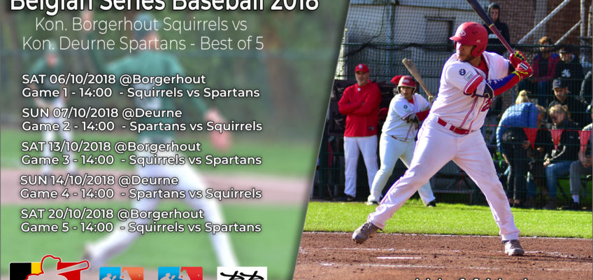 Saturday 6 October start of Belgian Series Baseball 2018