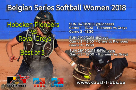 Belgian Baseball and Softball Series in full swing this weekend